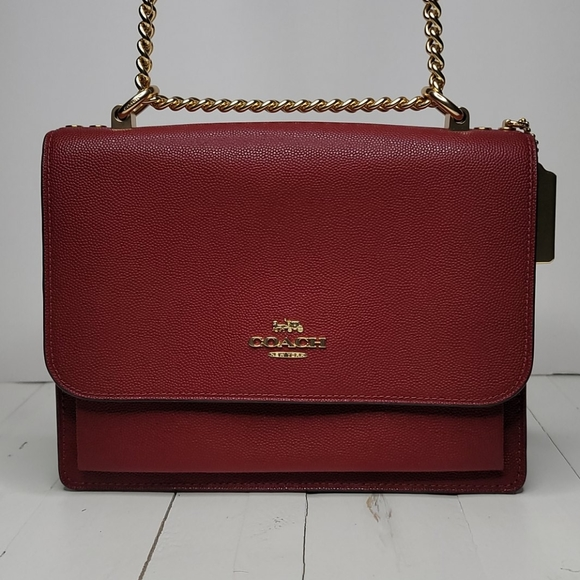 Red Leather Coach Crossbody